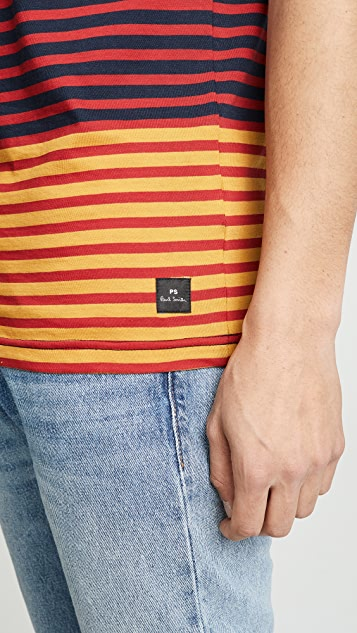 PS Paul Smith Multi Stripe Tee