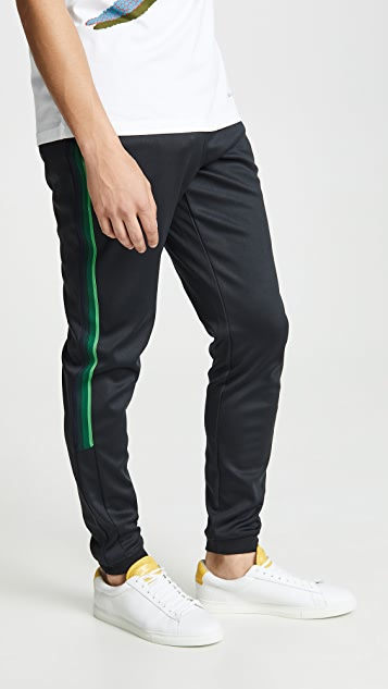 PS Paul Smith Black Joggers with Green Tape