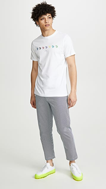 PS Paul Smith Multi Zebra Stripe T-Shirt