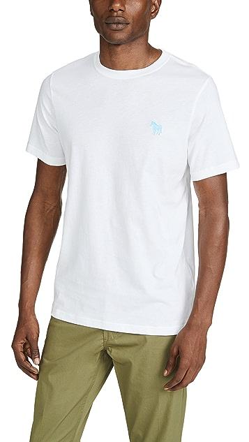 PS Paul Smith Zebra Print Tee Shirt