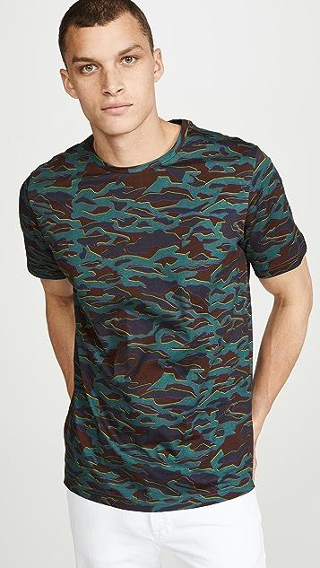 PS Paul Smith Short Sleeve Camo Print T-Shirt