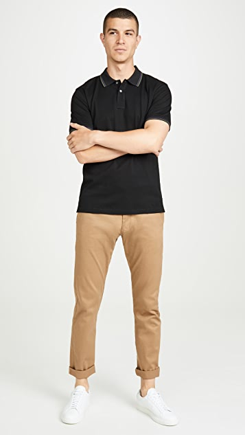 PS Paul Smith Regular Fit Polo Shirt with Stripe Collar