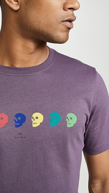 PS Paul Smith Short Sleeve Skull T-Shirt