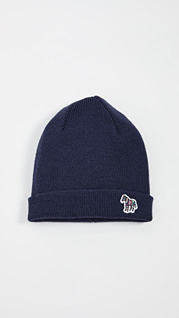PS Paul Smith Zebra Patch Beanie