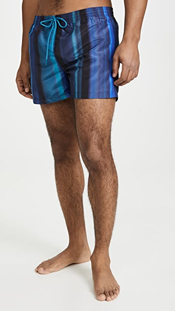 PS Paul Smith Blue Stripe Swim Trunks
