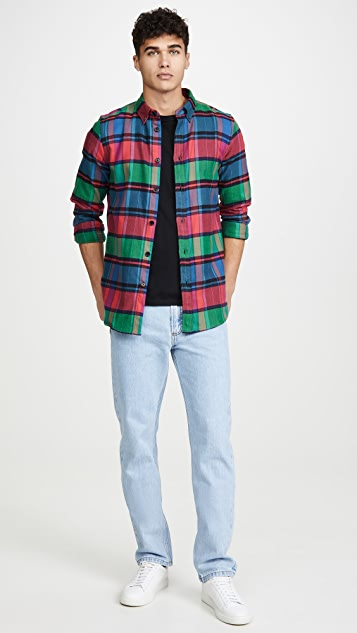PS Paul Smith Tailored Flannel Plaid Shirt
