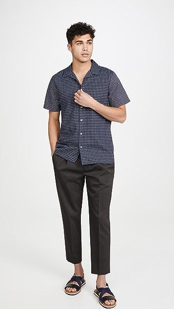 PS Paul Smith Short Sleeve Indigo Square Shirt