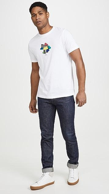 PS Paul Smith Zebra Cloud Print T-Shirt