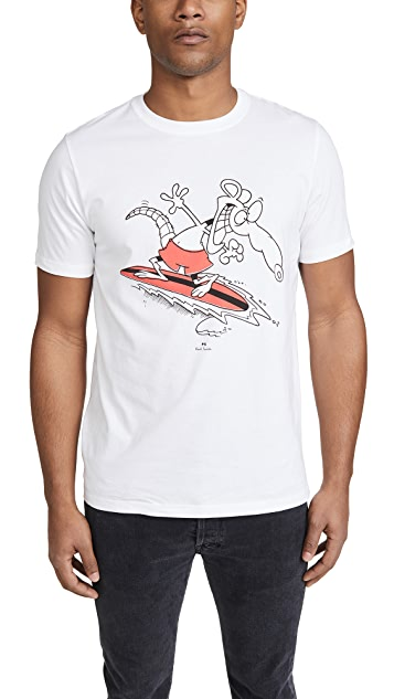 PS Paul Smith Surf Rat Print T-Shirt