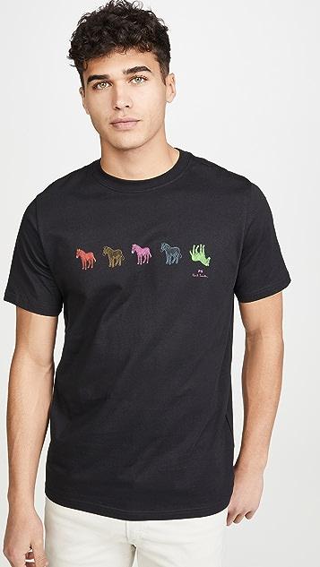 PS Paul Smith Multi Zebra Print T-Shirt
