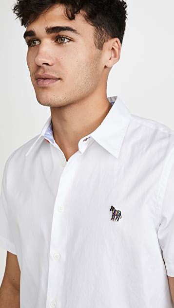PS Paul Smith Mens Casual Fit Shirt Zeb Badge