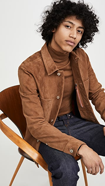 PS Paul Smith Mens Suede Rider Jacket