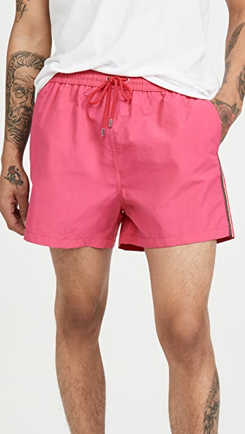 PS Paul Smith Swim Shorts With Side Stripe
