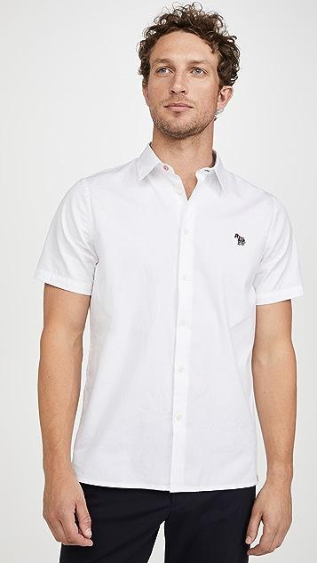 PS Paul Smith Short Sleeve Zebra Patch Button Down Shirt