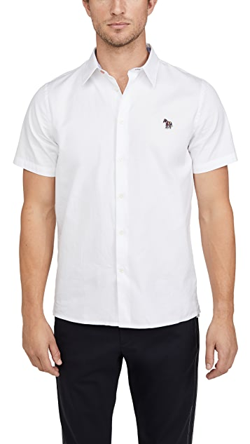 PS Paul Smith Short Sleeve Zebra Patch Button Down Shirt