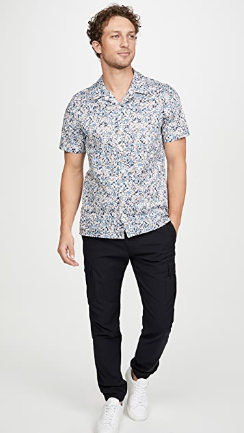 PS Paul Smith Short Sleeve Terrazzo Button Down Shirt