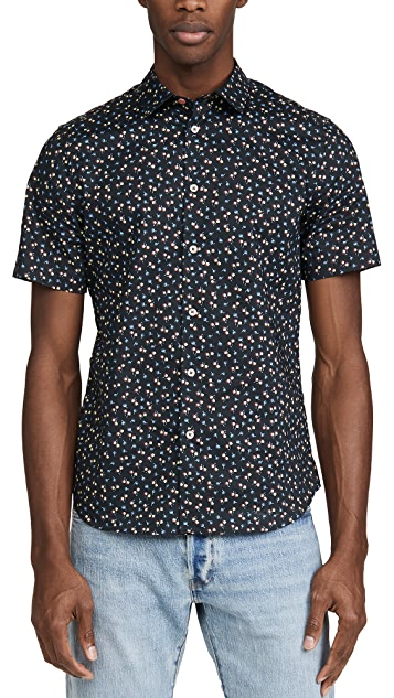 PS Paul Smith Short Sleeve Floral Button Down Shirt