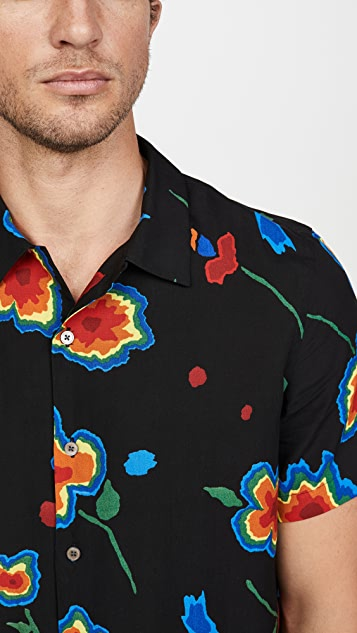 PS Paul Smith Short Sleeve Large Floral Button Down Shirt