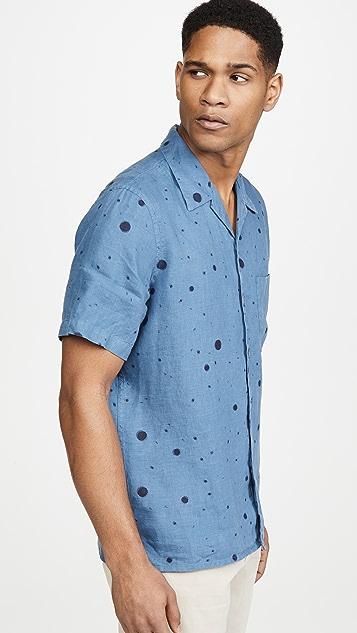 PS Paul Smith Short Sleeve Paint Splatter Button Down Shirt