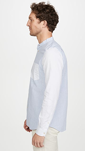 PS Paul Smith Long Sleeve Contrast Pocket Button Down Shirt