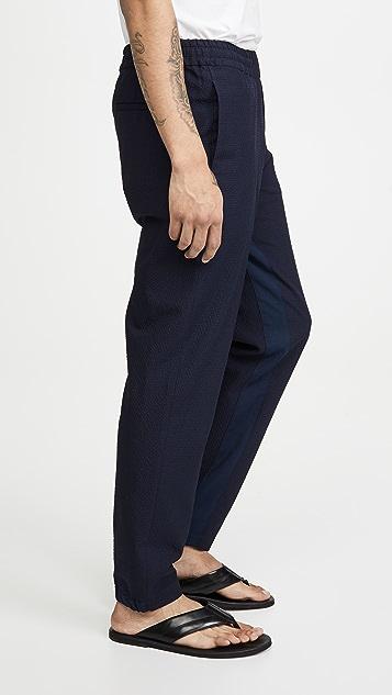 PS Paul Smith Elastic Waist Seersucker Trousers