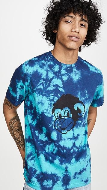 PS Paul Smith Tie Dye Monkey T-Shirt