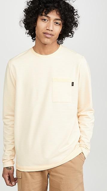 PS Paul Smith Striped Crew Neck Sweatshirt With Pocket