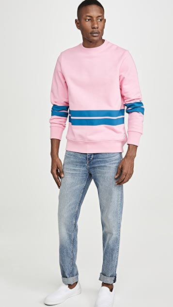 PS Paul Smith Bold Stripe Crew Neck Sweatshirt