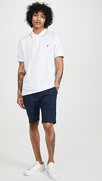 PS Paul Smith Embroidered Lightning Bolt Polo