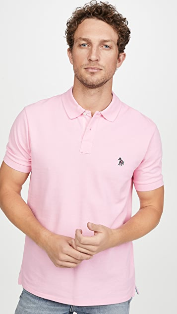 PS Paul Smith Regular Fit Zebra Short Sleeve Polo Shirt