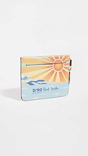 PS Paul Smith Dino Print Zip Pouch