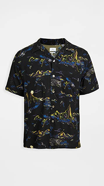 PS Paul Smith Casual Fit Floral Short Sleeve Shirt