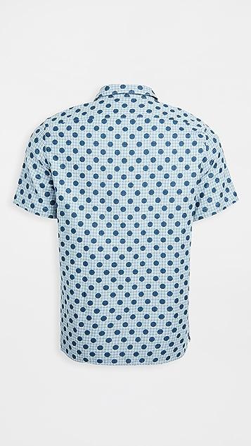 PS Paul Smith Casual Fit Polka Dot Short Sleeve Shirt