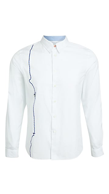 PS Paul Smith Tailored Fit Climber Embroidered Shirt