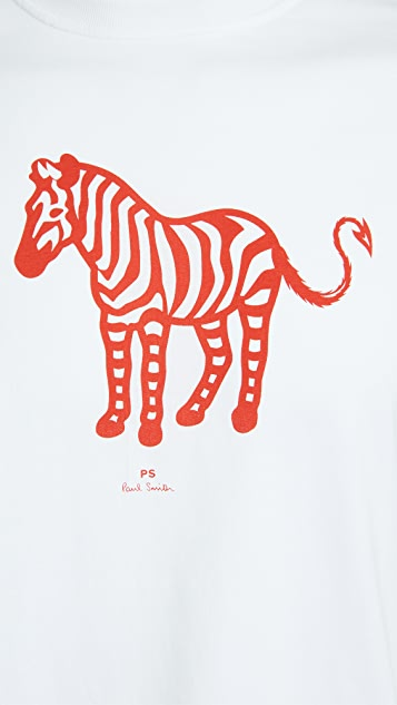 PS Paul Smith Regular Fit Devil Zebra T-Shirt