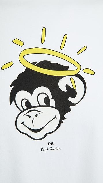 PS Paul Smith Regular Fit Monkey Halo T-Shirt