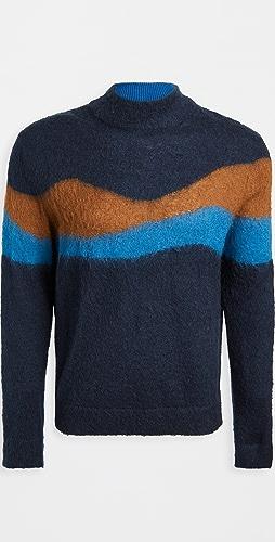 PS Paul Smith - Multi Stripe Turtleneck Sweater