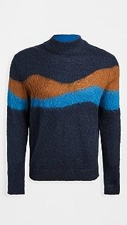 PS Paul Smith Multi Stripe Turtleneck Sweater