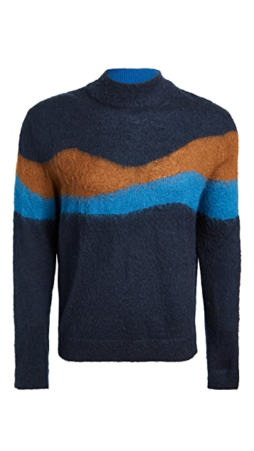 PS Paul Smith Multi Stripe Turtleneck Sweater