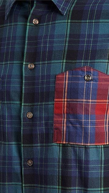 PS Paul Smith Multicolor Plaid Button Down Shirt