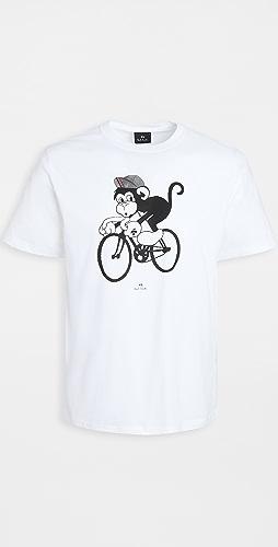 PS Paul Smith - Regular Fit Bike Monkey T-Shirt