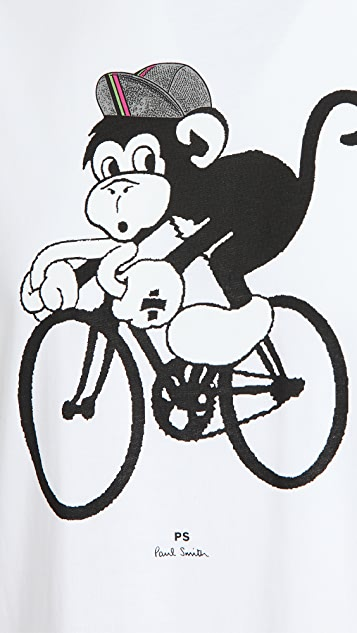 PS Paul Smith Regular Fit Bike Monkey T-Shirt