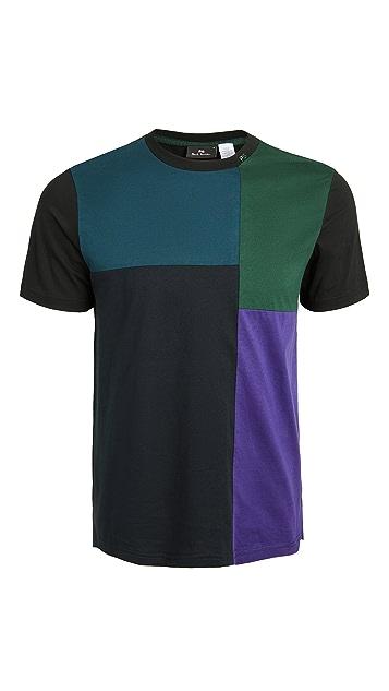 PS Paul Smith Regular Fit Colorblocked Tee Shirt