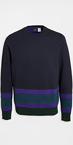PS Paul Smith - Colorblocked Crew Neck Sweatshirt