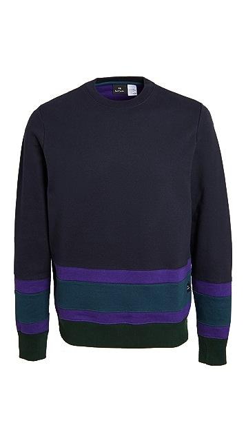 PS Paul Smith Colorblocked Crew Neck Sweatshirt