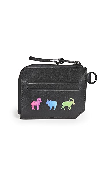 PS Paul Smith Rainbow Animal Zip Change Pouch