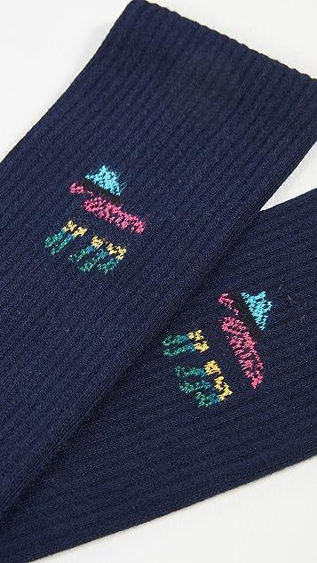 PS Paul Smith Zebra Striped Socks