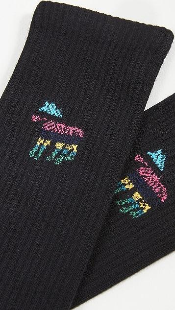 PS Paul Smith Stripe Zebra Socks
