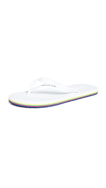 PS Paul Smith Shoe Dale White Flip Flops