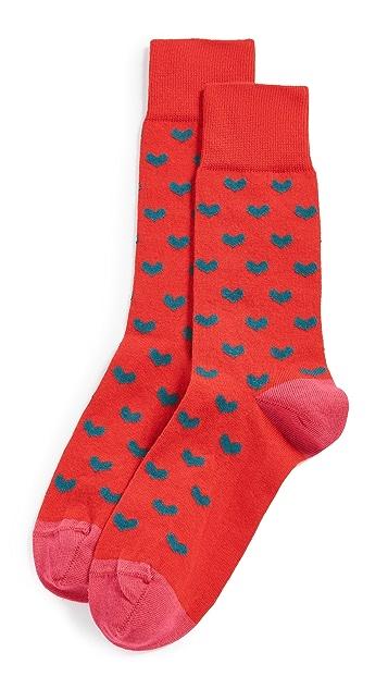 PS Paul Smith Sidney Heart Crew Socks